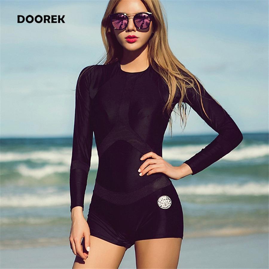 110c4434caec3 traje de baño de manga larga una pieza monokini negro nuevos. Cargando zoom.