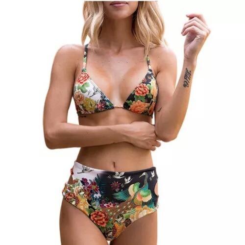 Alto Piezas De Bikini Baño Dos Moda Traje Tiro KJc1lF