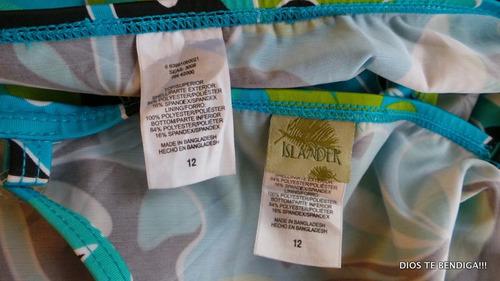 traje de baño dos piezas islander talla 12/l
