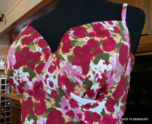 traje de baño floral con falda 18/l