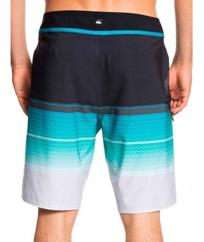 traje de baño hombre estampado rayas negro/azul quiksilver