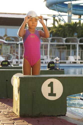 traje de baño magswim  1 pza niña aleta colorida