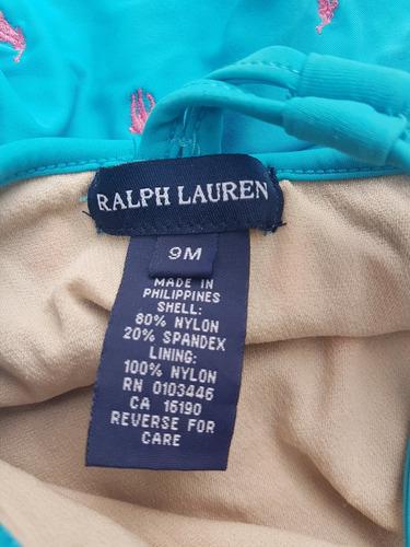 traje de baño malla bebé 9 meses polo ralph lauren