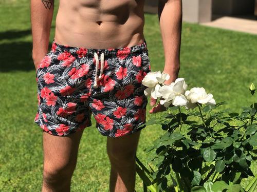 traje de baño malla de flores