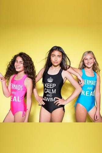 traje de baño mermaids123 keep calm black