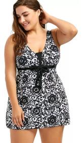 05fb6db35367 Traje De Baño Mujer Vestido Tallas Grandes Xl Envio Gratis
