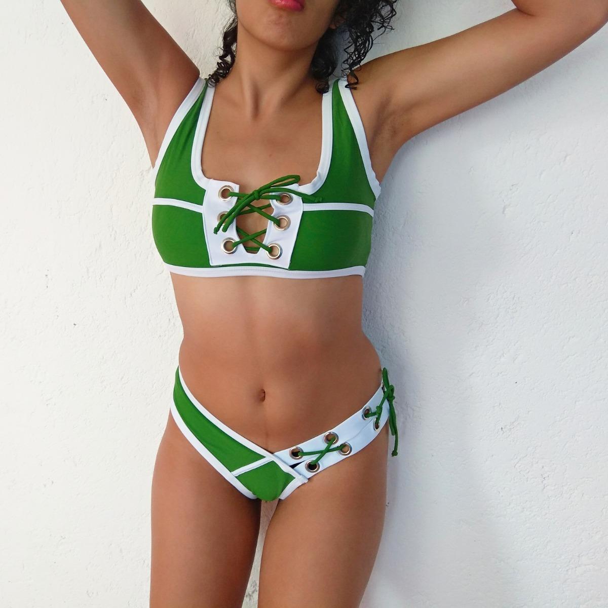 4912b9aadfb3 Traje De Baño Mujeres Crop Top Bikini Ropa Playa Mujer