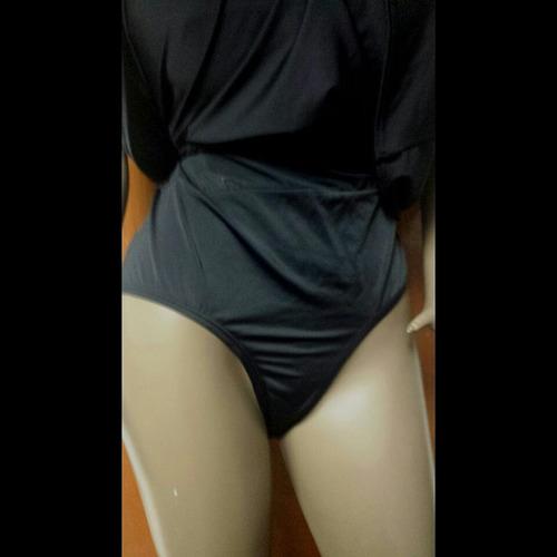 traje de baño negro tipo vestido tallas pluss grandes 4xl 5x