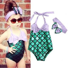 comprar online c0cfa 7ee6d Traje De Baño Para Niñas De La Sirenita De Colas De Sirena