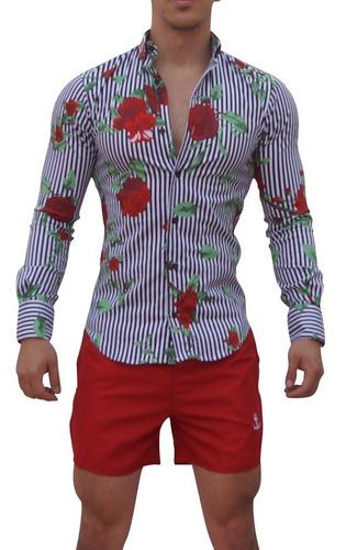 traje de baño rojo corto para hombre john leopard envio grat