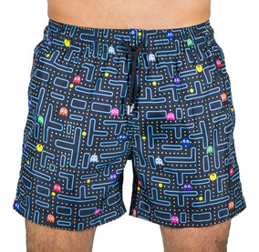 e31894523d79 Traje De Baño Short Estampado Pacman Adulto Hustle Swimwear