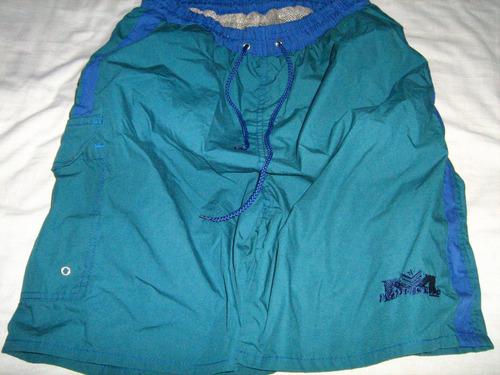 traje de baño short verde azul talla s