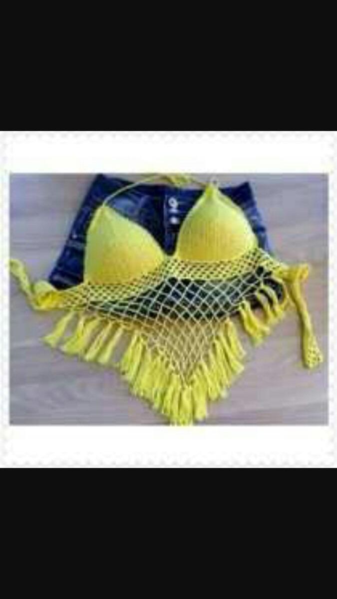 Traje De Baño Tejidos A Crochet - $ 250.00 en Mercado Libre