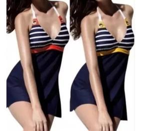 VestidoHermosoCompleto De Bikini Baño Tipo Dama Traje bvfmgyY76I