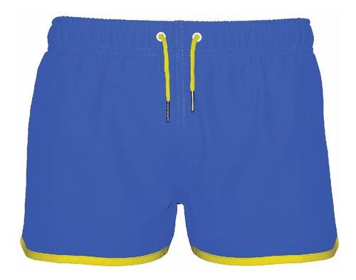 traje de baño vintage azul y amarillo crouch