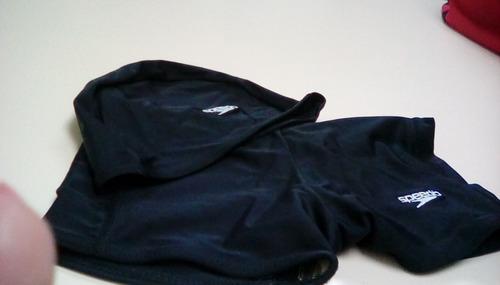 traje de baño y gorro speddo -el conjunto negro
