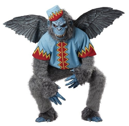 traje de california adulto evil winged monkey, gris /azul,