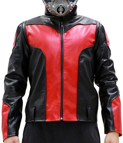 traje de chaqueta de la capa de piel súper hormiga masculin