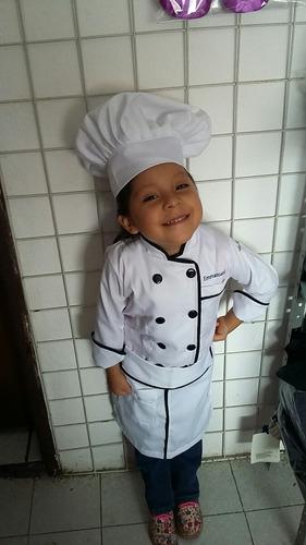 traje de chef filipina niño 3 piezas