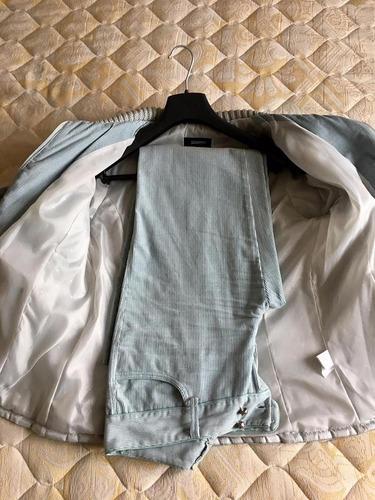 traje de corderoy gris perla talle: 46