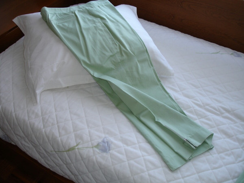 traje de dama verde agua ayres