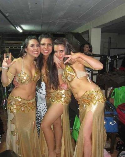 traje de danza arabe dorado