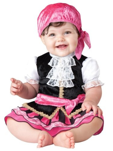 traje de incharacter la niña bastante poco pirata, rosa / n