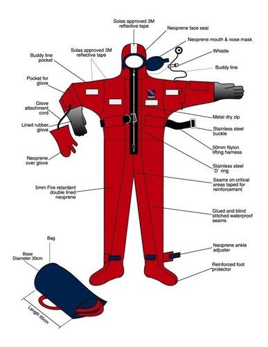 traje de inmersion solas aprobado para naves y embarcaciones