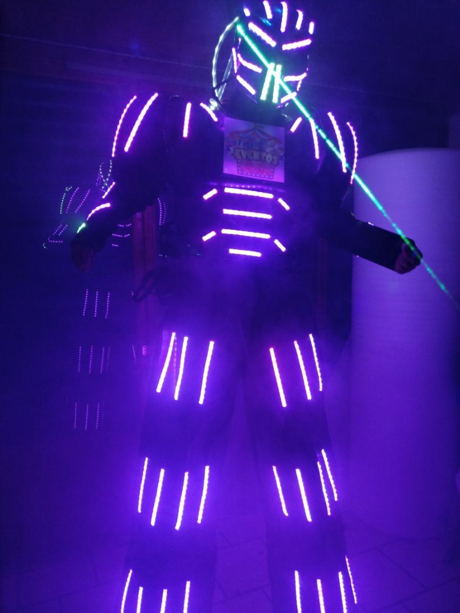 Traje De Led Robot Led Depredador Para Zancos -   19 2008efd5fe3