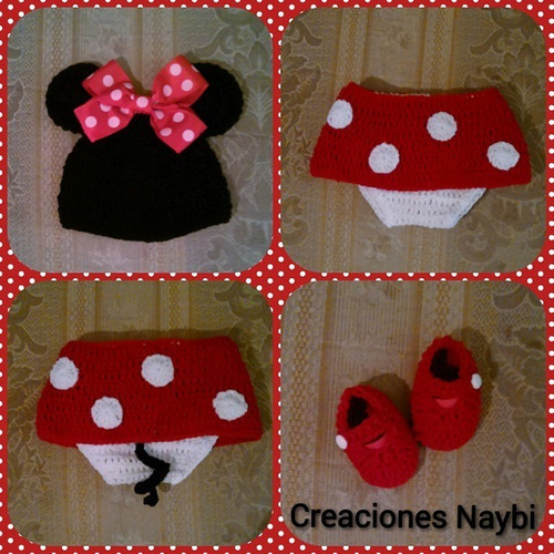 traje de minnie mouse a crochet