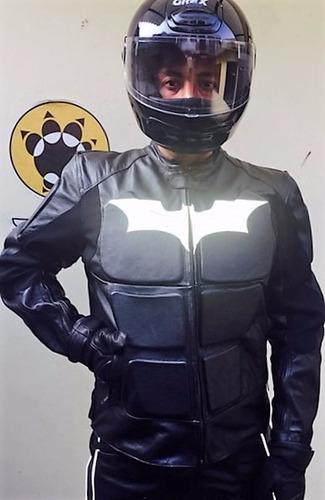 traje de motociclista batman o tron sobre medida.