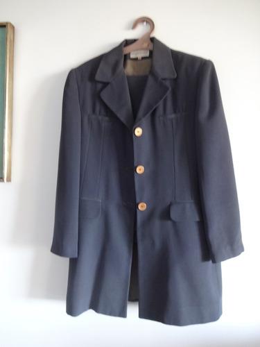 traje de mujer color petroleo - talle 48