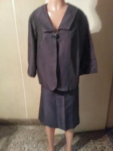 traje de mujer import usa forrado gris topo brilloso $ 600