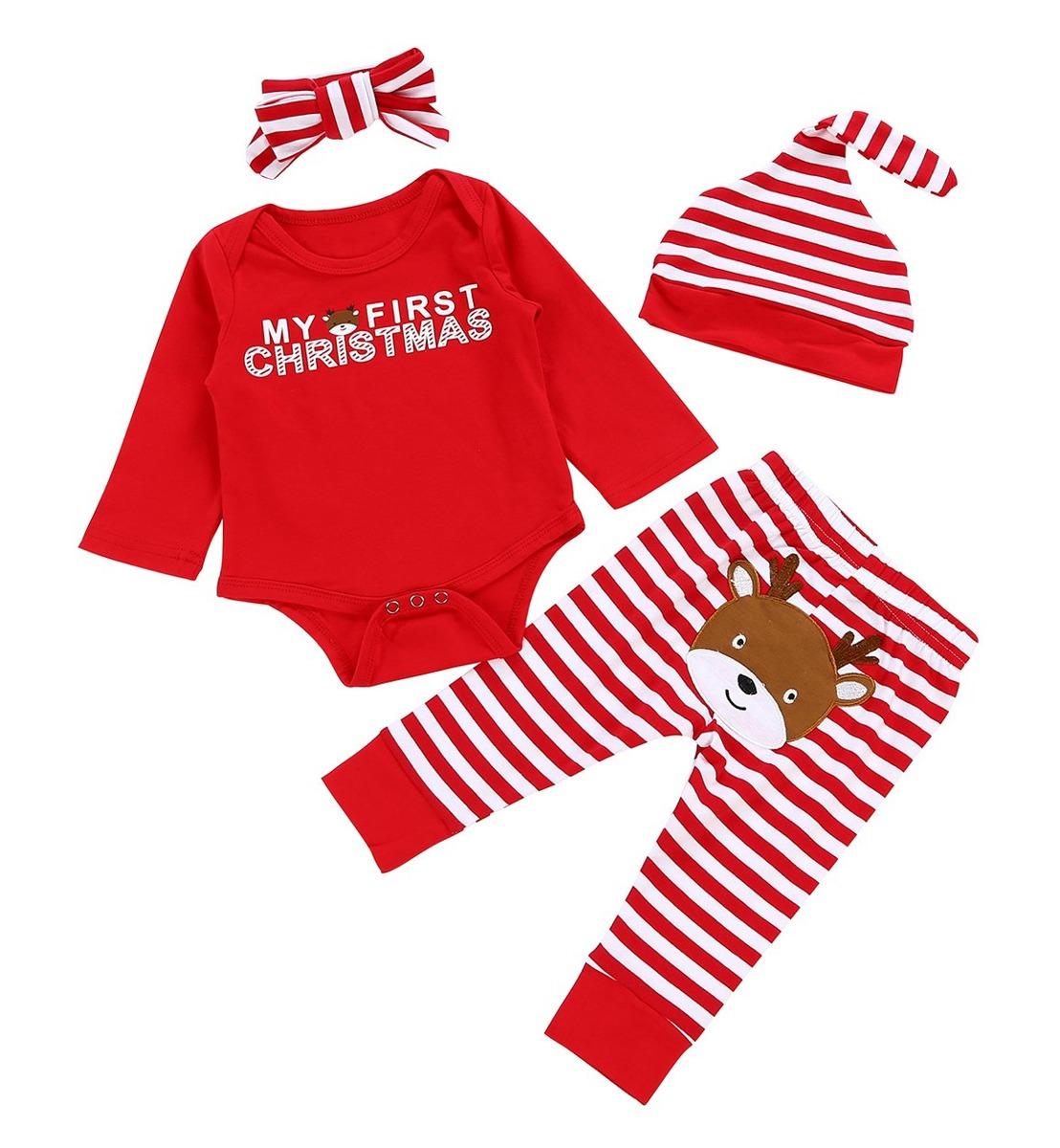 1680c711c84 traje de navidad 4 piezas conjunto de niñas bebés niños m. Cargando zoom.