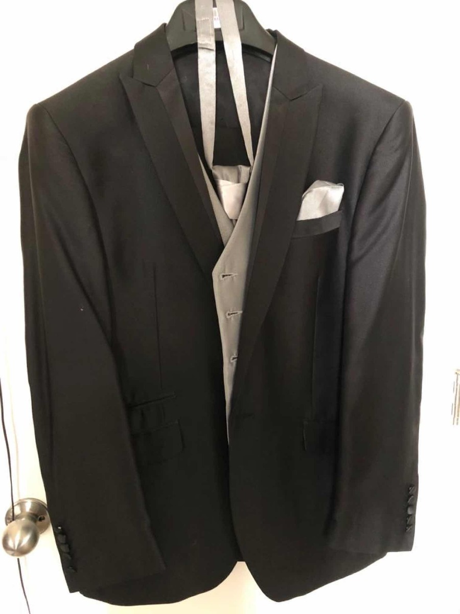 corbata Talla Chaqueta Traje pantalón De Novio chaleco 48 nYqEwgPX