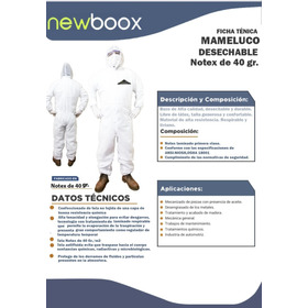 Traje De Protección Tipo Tyvet Notex