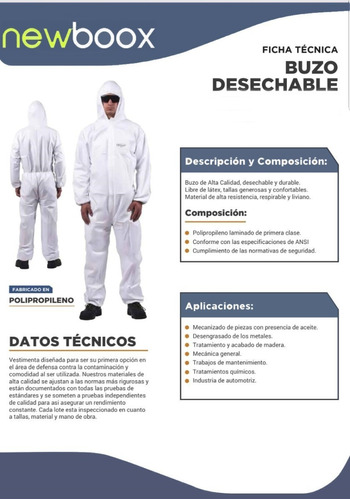 traje de protección tyvet