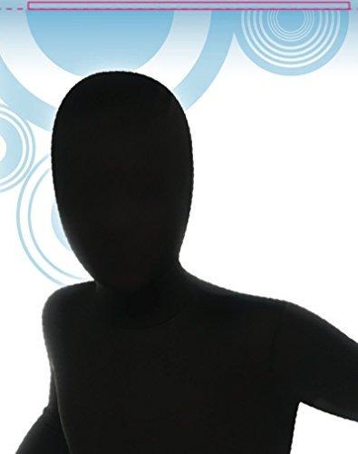traje de segunda piel negro para niños grande