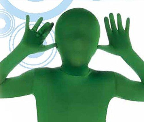 traje de segunda piel verde para niños rubies grande