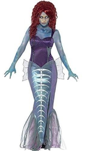 traje de sirena zombie para mujer de smiffys, top y falda de