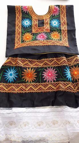 traje de tehuana estilo istmo para niña talla 5