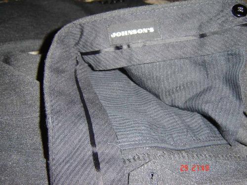 traje de vestir de media estacion color gris oscuro