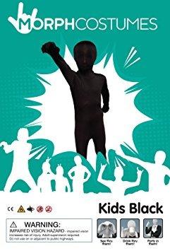 traje del vestido negro original kids morphsuit fantasía -