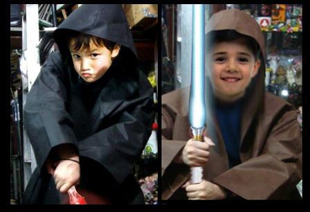 traje disfraz jedi para niños! star wars, maestro yoda, sith