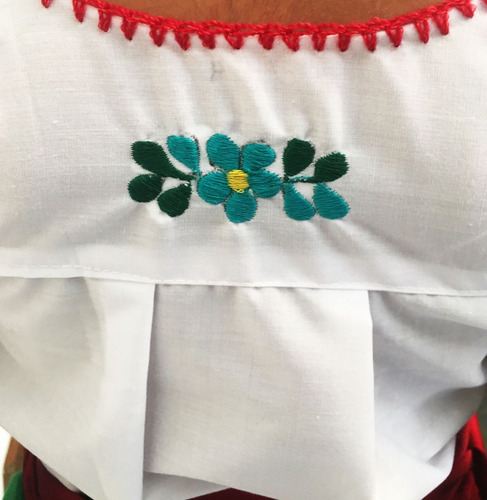 traje disfraz vestuario regional china poblana