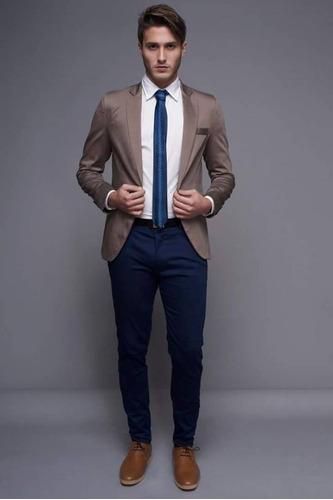 traje entallado c/ pantalon chupin ambo de vestir