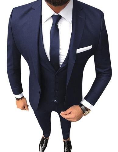 traje entallado hombre con chaleco y pantalon chupin