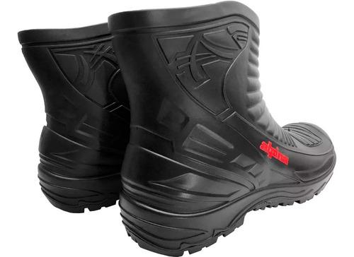 traje equipo de lluvia delta brasil + botas + guantes - sti