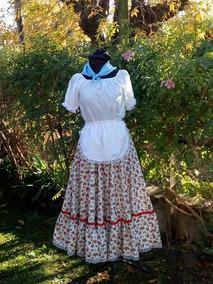 912f9627b Traje Folklore Blusa Y Falda Talle 10/12