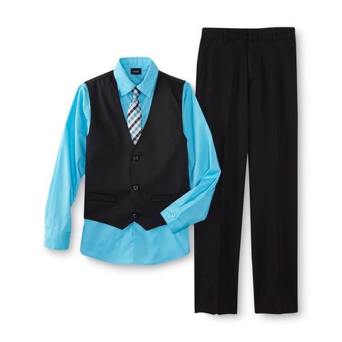 traje formal para niño talla 8 set completo de 4 pieza negro